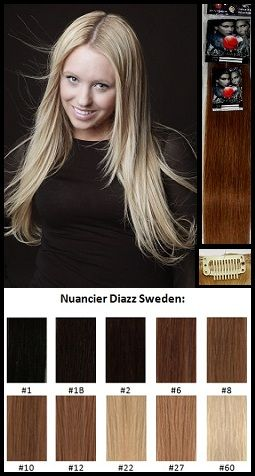 Diazz Sweden-Clip-in - Kit complet-Cheveux 100 % naturels (humains)60